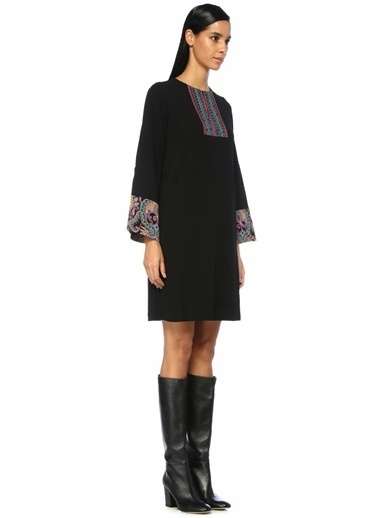 Etro Etro  Etnik Desen Detaylı Mini Elbise 101283748 Renkli